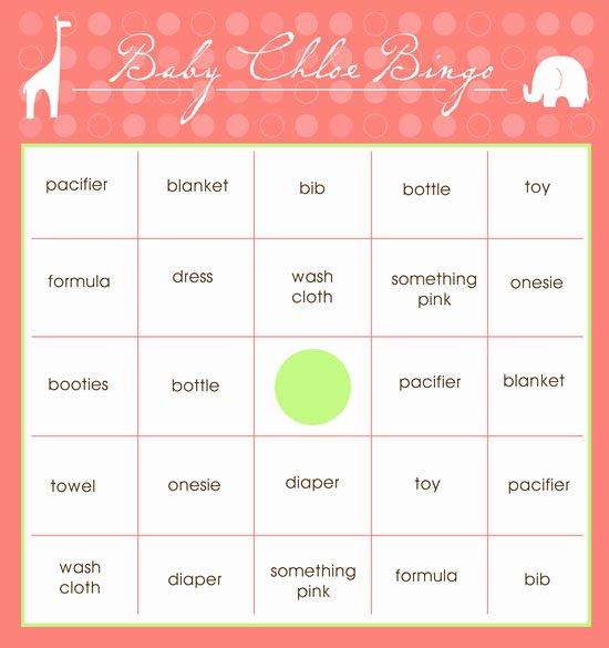 Baby Shower Bingo Generator Unique Free Baby Bingo Cards