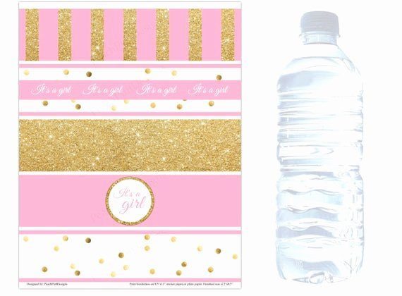 Baby Shower Water Bottle Label Template Free Elegant Baby Shower Water Bottle Labels Instant Download Baby