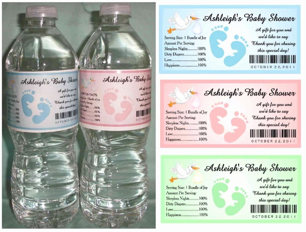 Baby Shower Water Bottle Label Template Free Fresh How to Create Baby Shower Water Bottle Labels