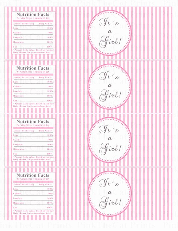 Baby Shower Water Bottle Label Template Free Inspirational Baby Shower Bottle Labels Baby Shower Bottle Wrappers