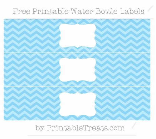 Baby Shower Water Bottle Label Template Free Inspirational Free Baby Blue Chevron Water Bottle Labels