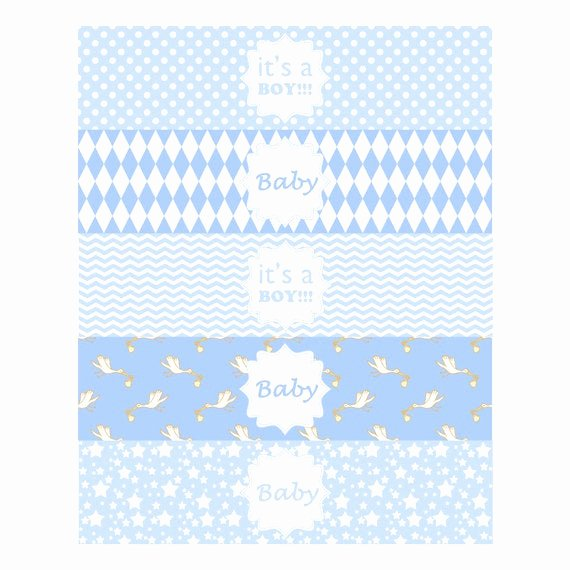 Baby Shower Water Bottle Label Template Free Lovely Baby Boy Water Bottle Label Baby Boy Shower Printable Label