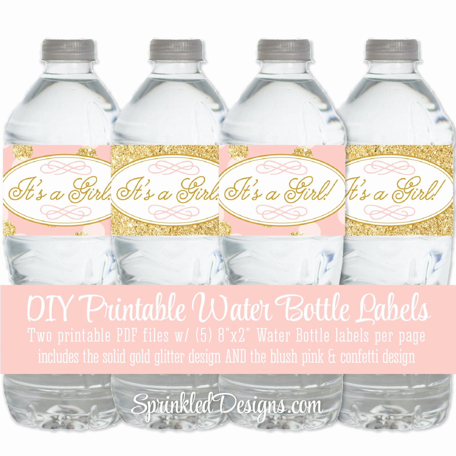 Baby Shower Water Bottle Label Template Free Unique Printable Baby Shower Water Bottle Labels It S A Girl