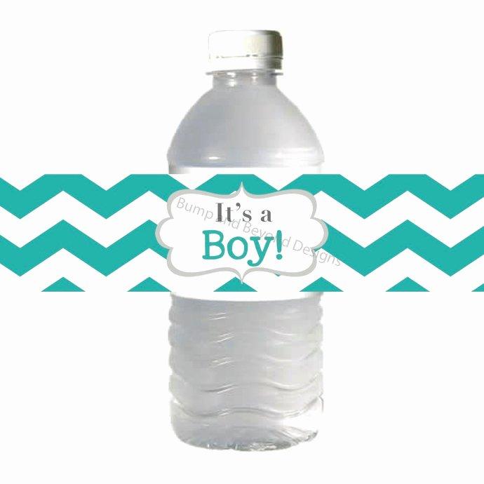Baby Shower Water Bottle Labels Free Beautiful Baby Shower Water Bottle Labels Its A