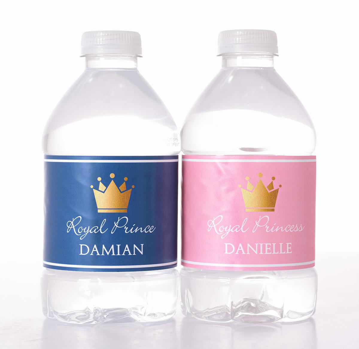 Baby Shower Water Bottle Labels Free Beautiful Royal Baby Baby Shower Bottled Water Labels