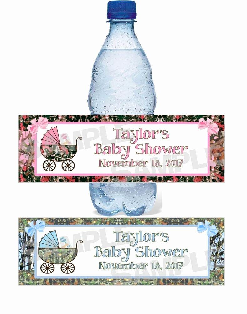 Baby Shower Water Bottle Labels Free Unique Personalized Camouflage Camo Baby Shower Water Bottle