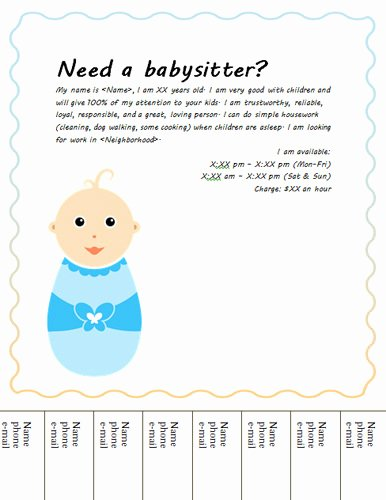 Babysitter Flyer Template Microsoft Word Best Of 10 Cute Brochure Templates Free Cute Daycare