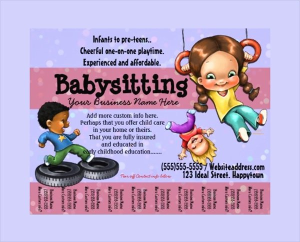 Babysitter Flyer Template Microsoft Word Best Of 11 Babysitting Flyers