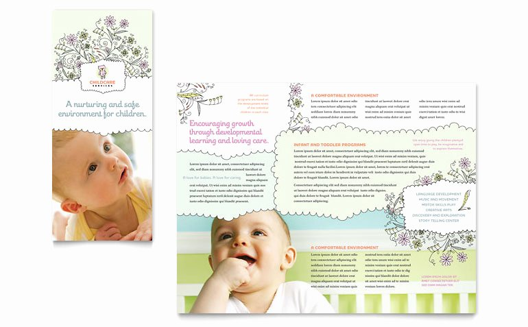 Babysitter Flyer Template Microsoft Word Best Of Babysitting & Daycare Tri Fold Brochure Template Word