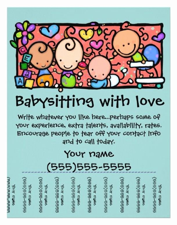 Babysitter Flyer Template Microsoft Word Elegant 15 Cool Babysitting Flyers 14 Babysitting
