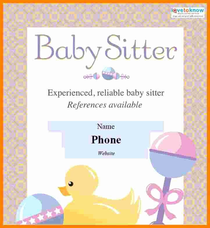 Babysitter Flyer Template Microsoft Word Elegant 8 Babysitting Flyer Template