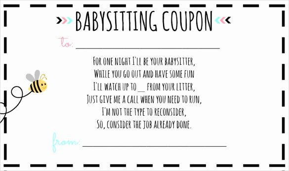 Babysitter Flyer Template Microsoft Word Fresh 11 Babysitting Voucher Templates Psd Ai Indesign