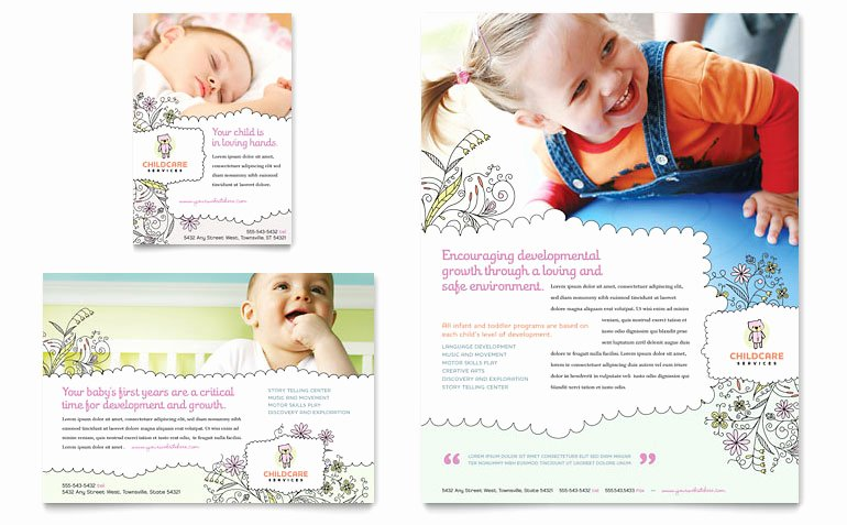Babysitter Flyer Template Microsoft Word Inspirational Babysitting & Daycare Flyer & Ad Template Word & Publisher