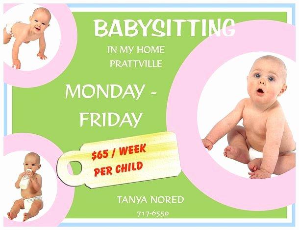 Babysitter Flyer Template Microsoft Word Lovely 15 Babysitting Flyers 13 610×471