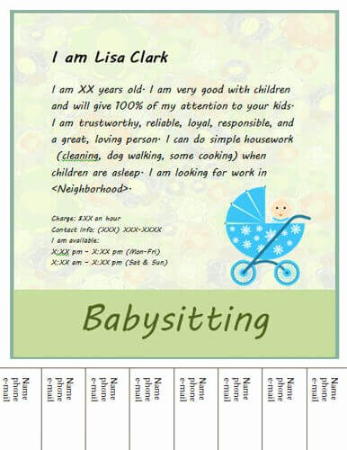 Babysitter Flyer Template Microsoft Word Unique House Cleaning Professional How to Make A House Cleaning