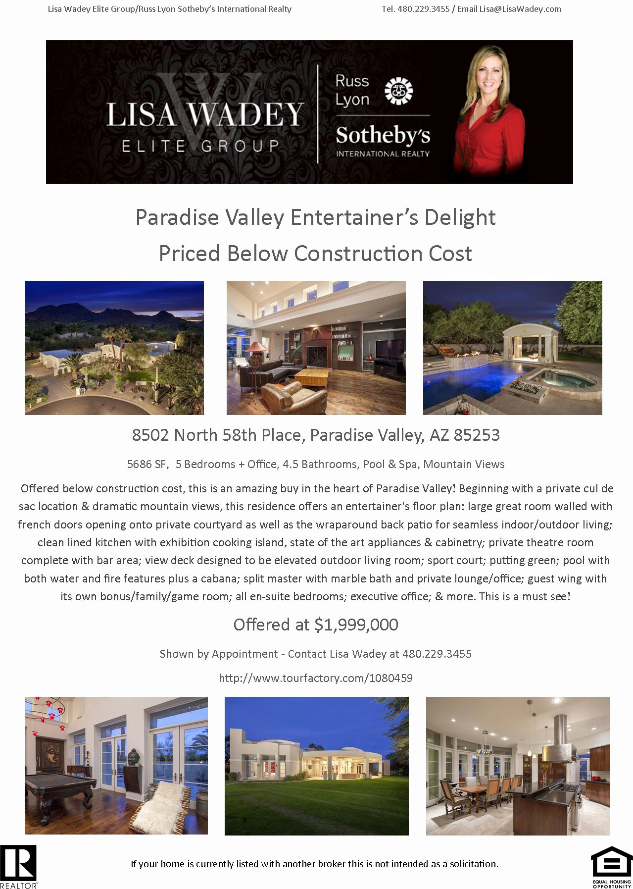 Back Charge Construction Luxury Back On the Market & Priced Below Construction Cost