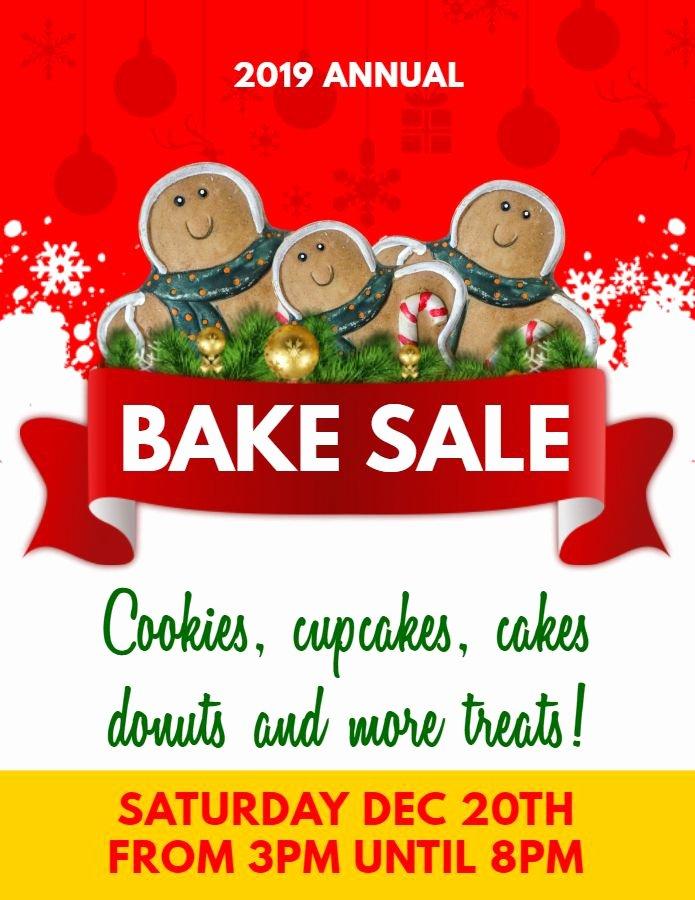 Bake Sale Flyer Ideas Elegant Printable Christmas Bake Sale Ad Flyer Template