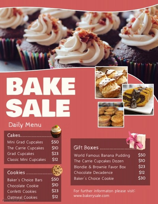 Bake Sale Flyer Ideas New Copy Of Bake Sale Pricelist Flyer Template