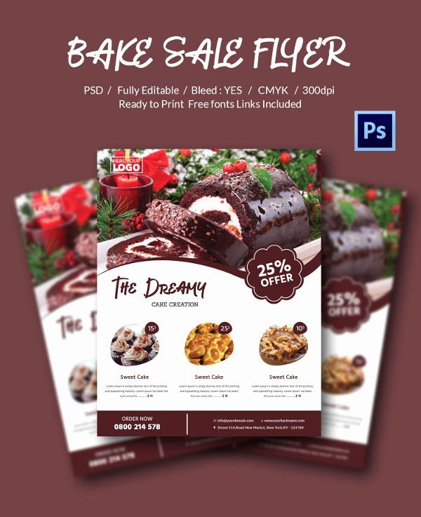 Bake Sale Flyer Template Free Beautiful Bake Sale Flyer Template 34 Free Psd Indesign Ai