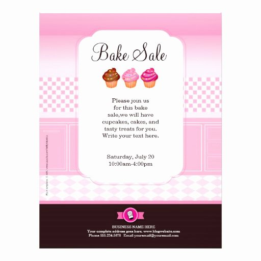 Bake Sale Flyer Template Free Best Of Professional Bake Sale Flyer Personalized