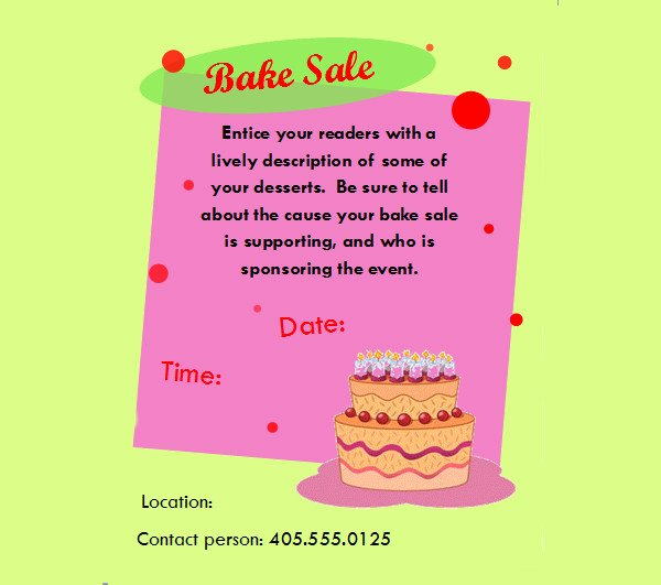 Bake Sale Flyer Template Free Fresh 32 Bake Sale Flyer Templates Ai Psd Publisher