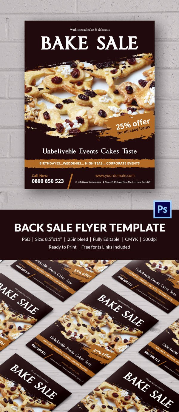Bake Sale Flyer Template Free Fresh Bake Sale Flyer Template 24 Free Psd Indesign Ai