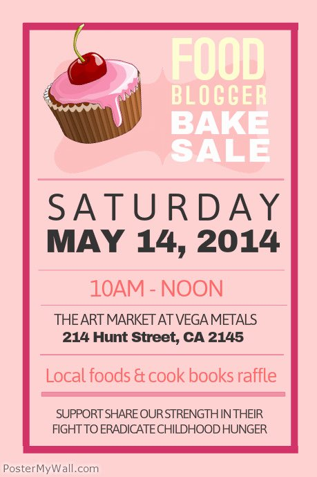 Bake Sale Flyer Template Free Lovely Bake Sale Poster Template