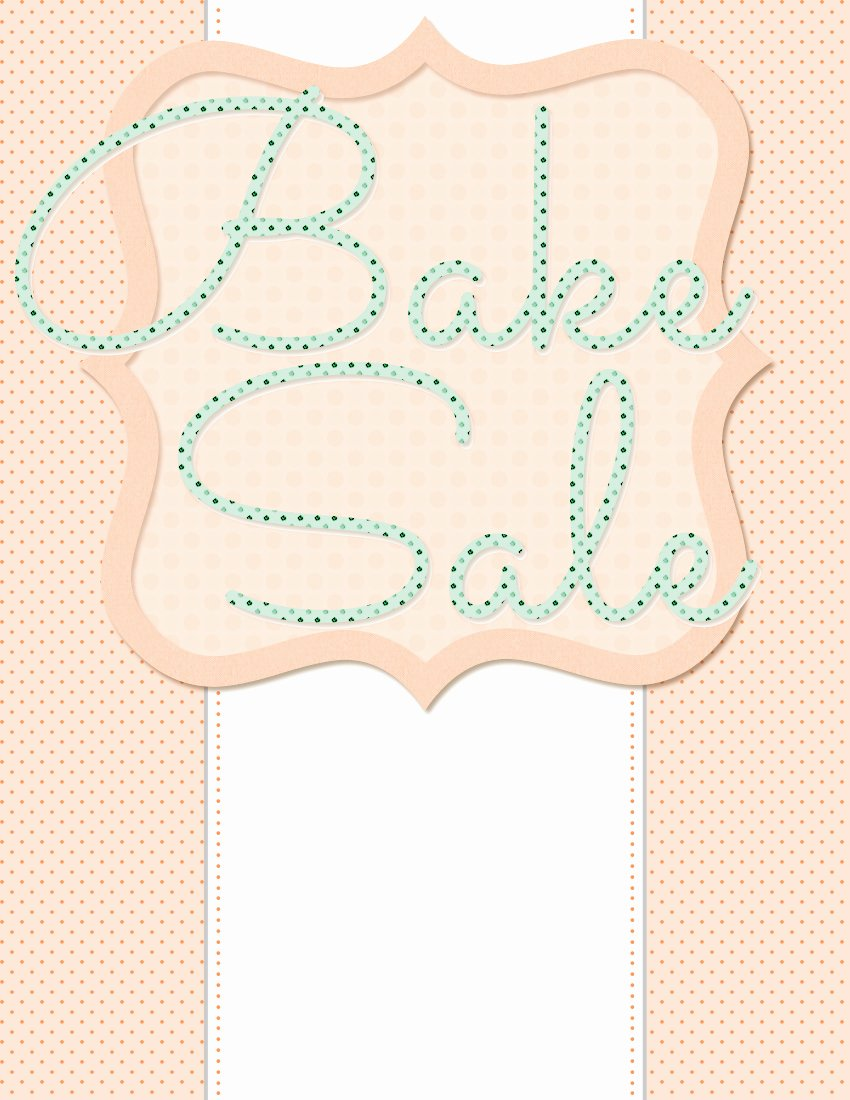 Bake Sale Flyer Template Free New 5 Free Bake Sale Flyer Templates