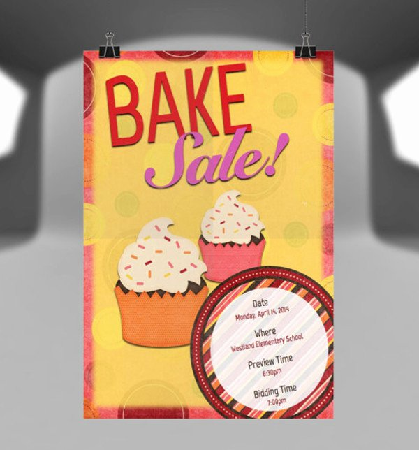 Bake Sale Flyer Template Free Unique 14 Sample Bake Sale Flyer Templates Psd Ai Word