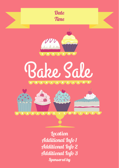 Bake Sale Flyer Template Free Unique Show Details for Bake Sale Poster 2