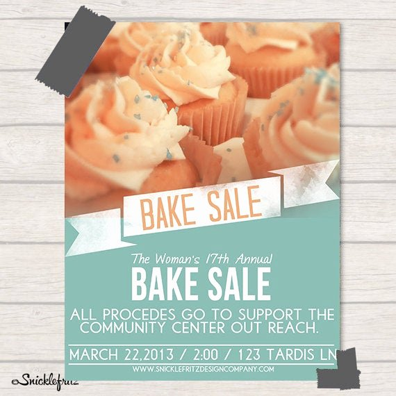 Bake Sale Flyer Templates Free Awesome Items Similar to Bake Sale Flyer Personalized Printable