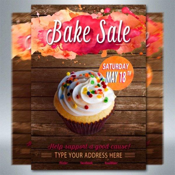 Bake Sale Flyer Templates Free Inspirational 32 Bake Sale Flyer Templates Ai Psd Publisher