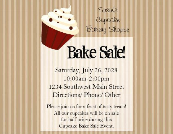 Bake Sale Flyer Templates Free Inspirational 33 Bake Sale Flyer Templates Free Psd Indesign Ai