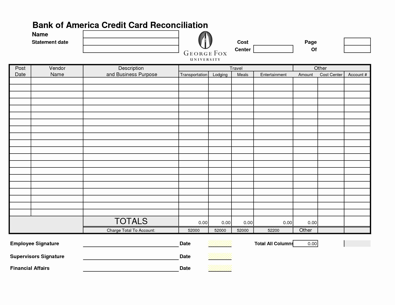 Balance Sheet Reconciliation Template Inspirational 14 Best Of Credit Card Balance Worksheet Debt