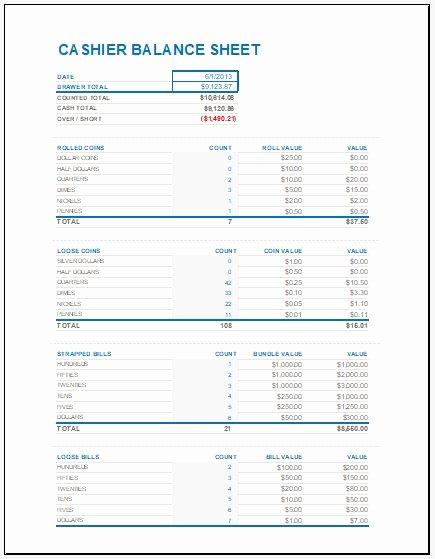 Balance Sheet Reconciliation Template Luxury Balance Cash Drawer Till Balance Sheet Bombay Chest Drawers