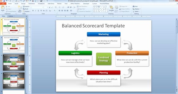 Balanced Scorecard Template Word Unique Free Balanced Scorecard Powerpoint Template