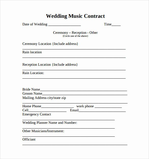 Band Contract Template Unique 15 Music Contract Templates