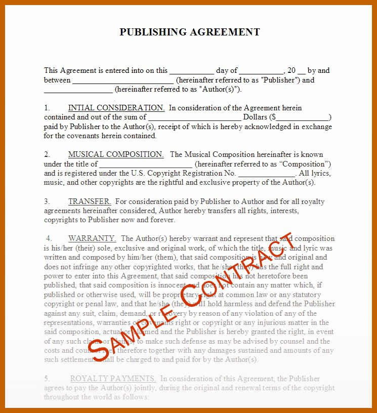 Band Contract Template Unique 8 9 Band Contract Template