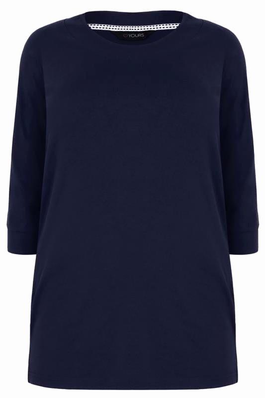 Band Input List Template Elegant Dunkel Blaues T Shirt Mit 3 4 Ärmel In Großen Größen 44 64