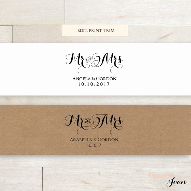 Band Input List Template Fresh Invitation Belly Band Printable Template Wedding Belly