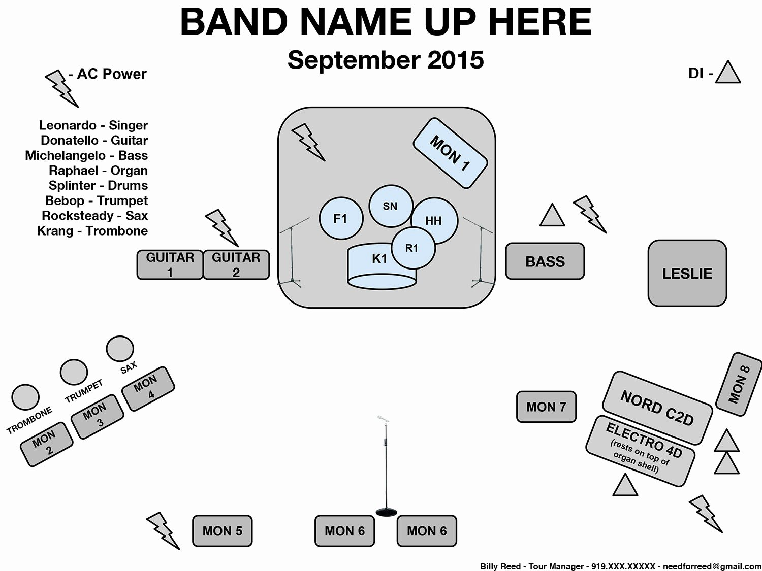 Band Input List Template New How to Create A Stage Plot and Input List Needforreed