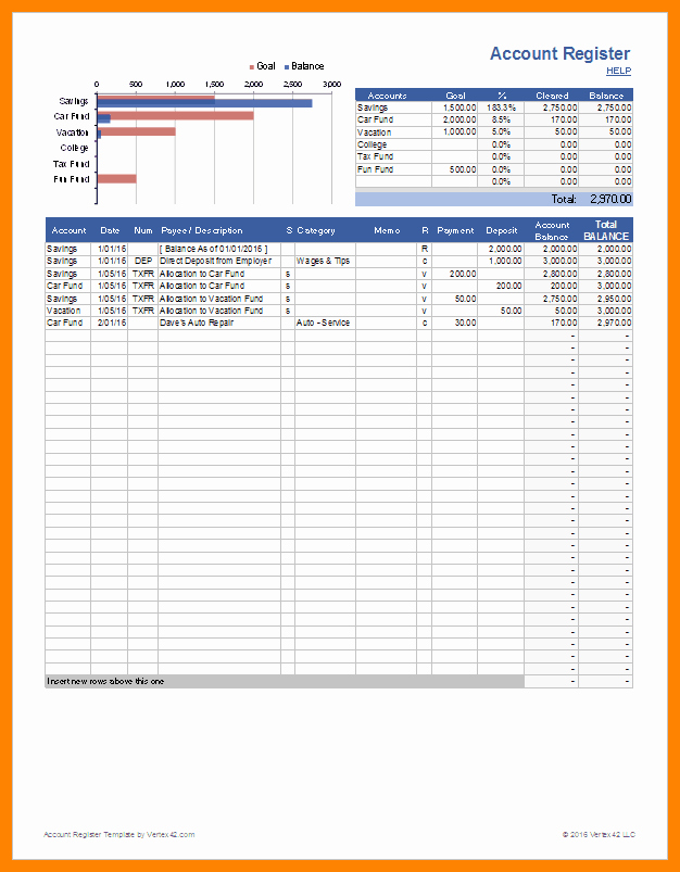 Bank Ledger Template Fresh 8 Checking Account Ledger Template