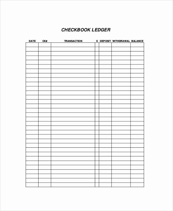 Bank Ledger Template Fresh 9 Printable Check Register Samples