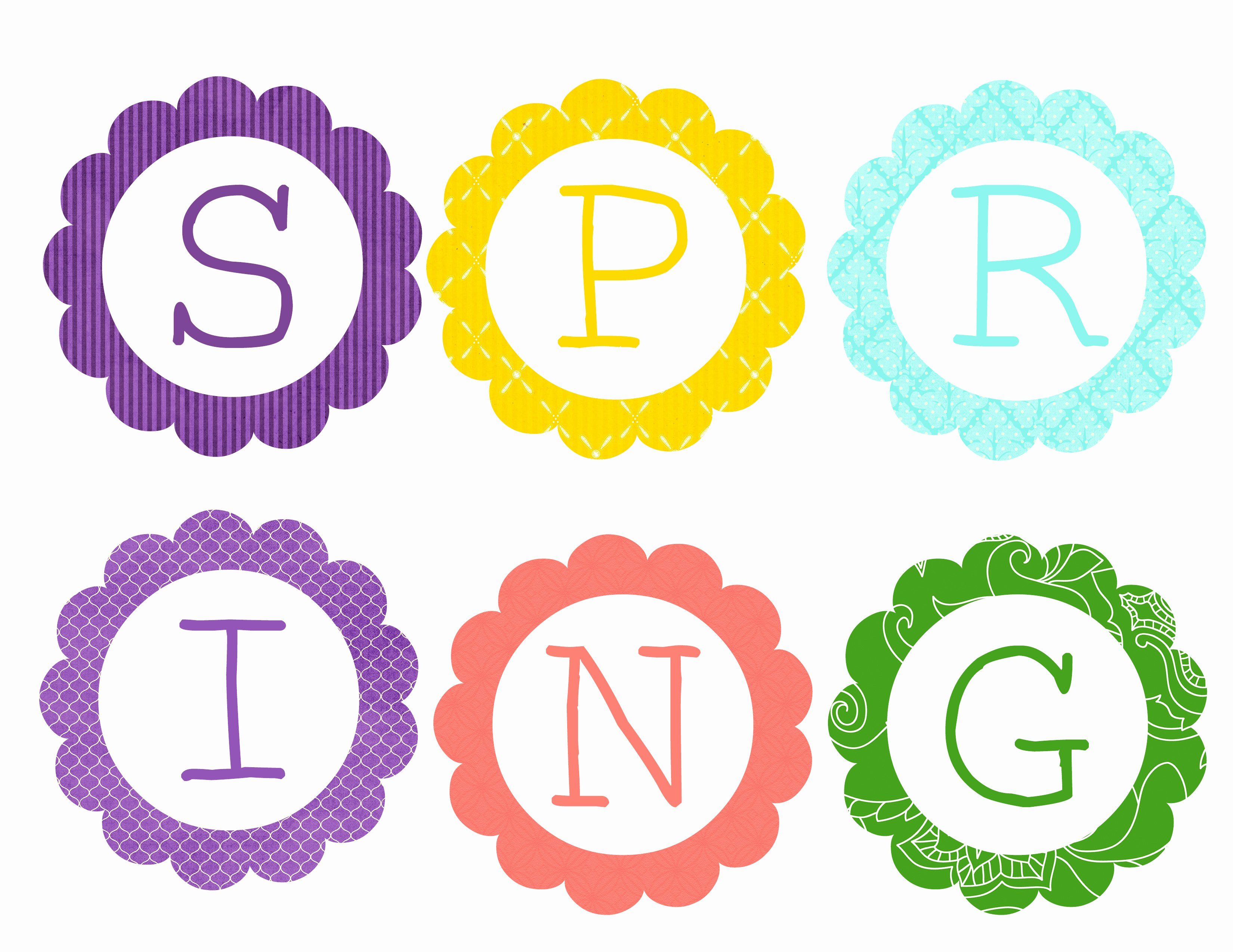 Banner Cut Out Lovely Free Printable Spring Banner Bunting