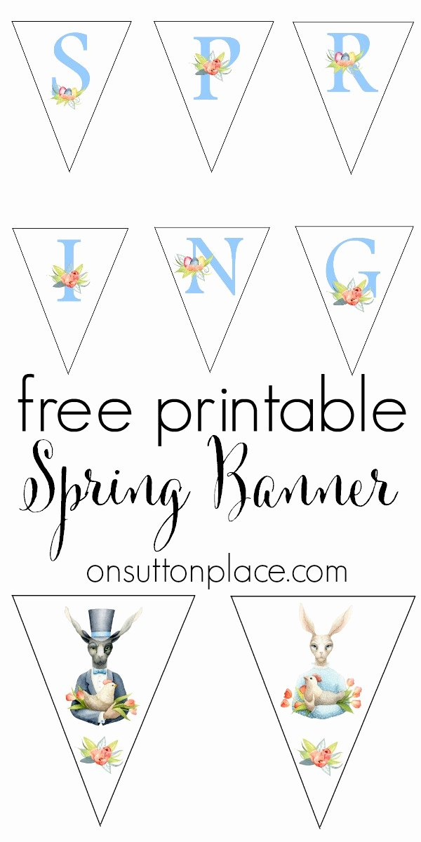 Banner Cut Out New Spring Easter Bunny Free Printable Banner Sutton Place