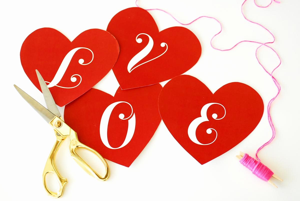 Banner Cut Out New Valentine S Day Love Banner