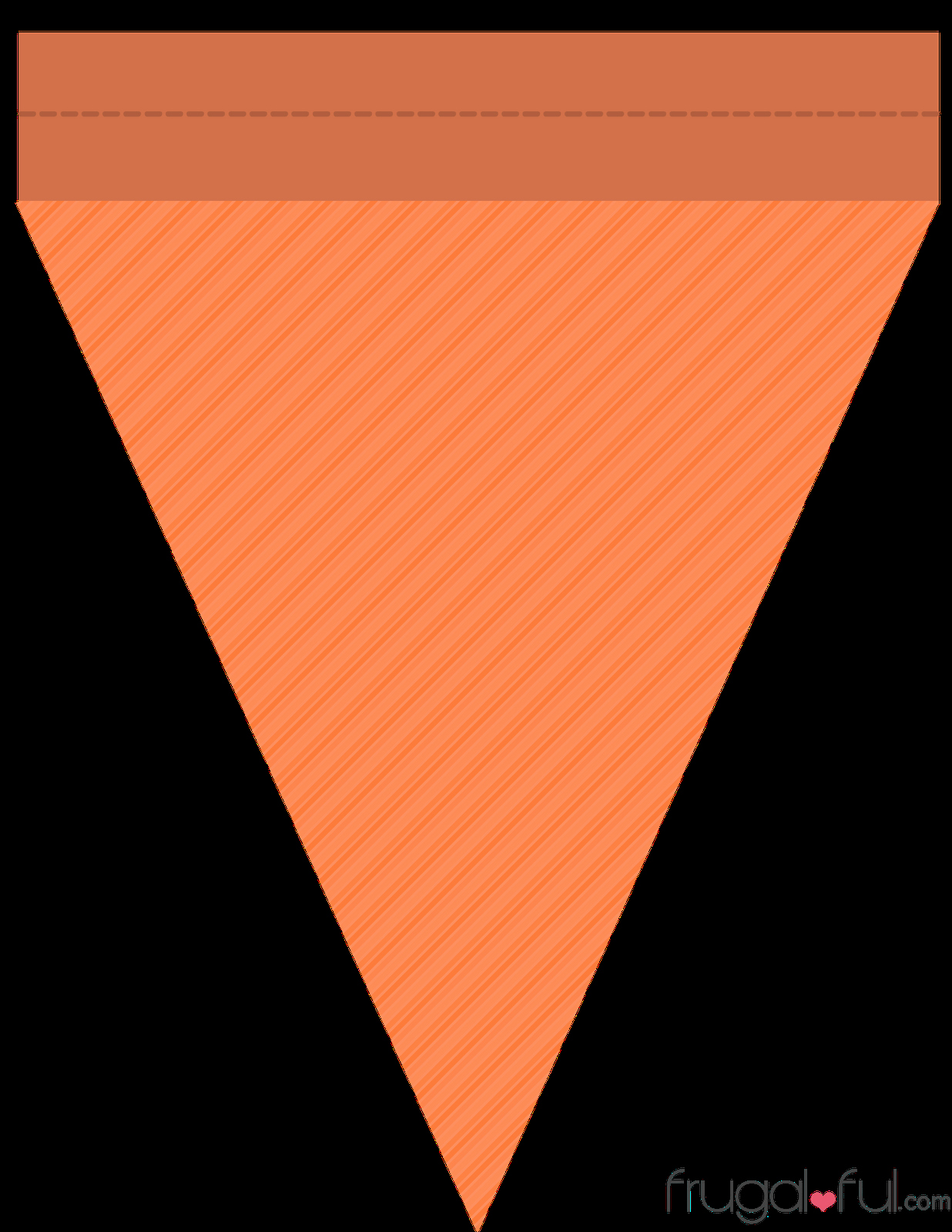 Banner Triangle Template Awesome Diy Free Printable Halloween Triangle Banner Template