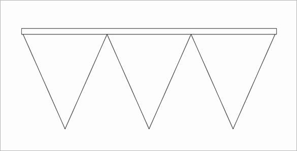 Banner Triangle Template Elegant Pennant Banner Template
