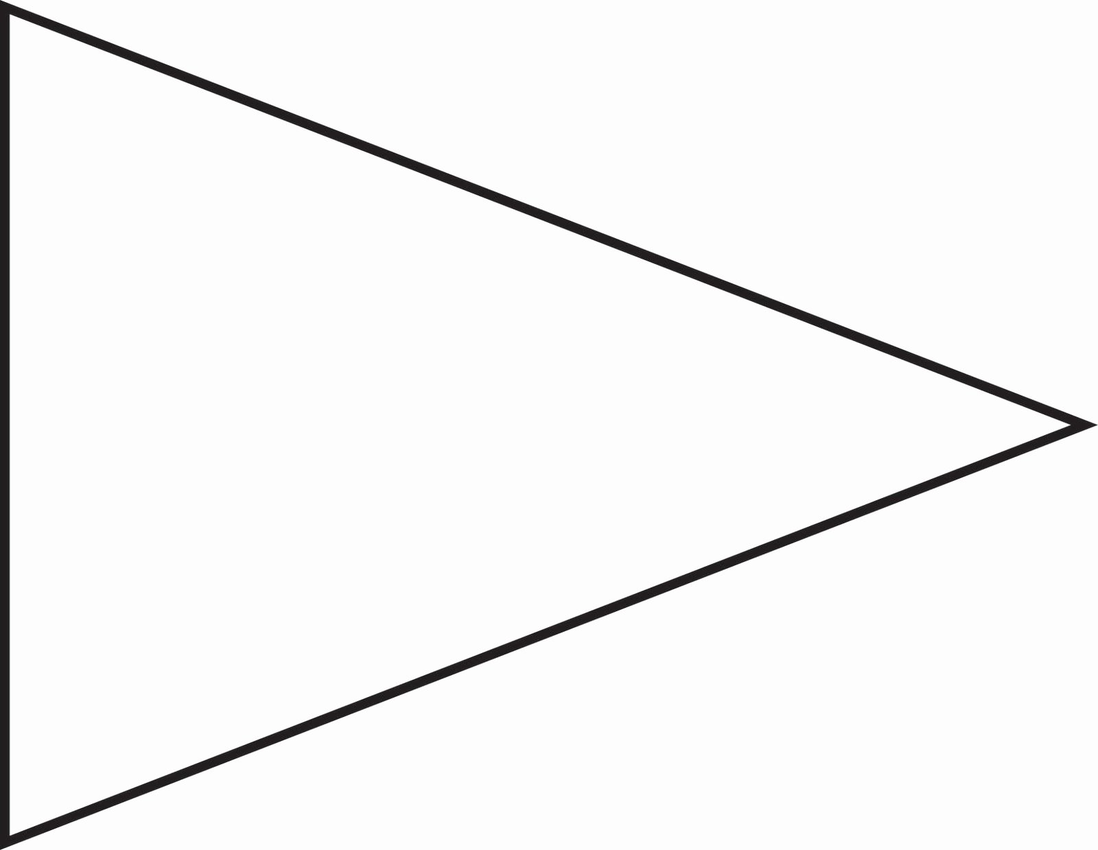 Banner Triangle Template Lovely Pin Triangle Flag Outline Clip Art Vector Line Royalty