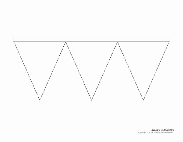 Banner Triangle Template Lovely Printable Pennant Banner Template & Triangle Banner Templates